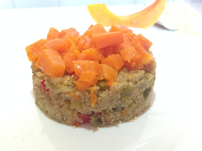 Timbal de quinoa con calabaza