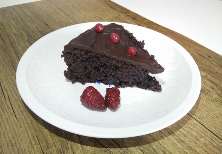 Trozo de tarta listo para comer
