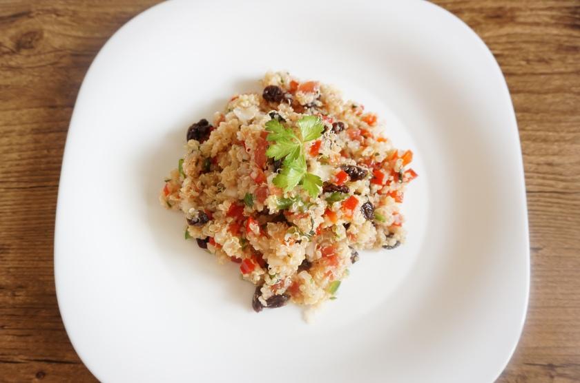 Taboulé de quinoa con pasas listo!