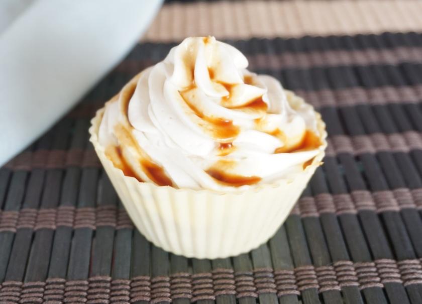 Cupcake decorado con un poco de extracto de vainilla